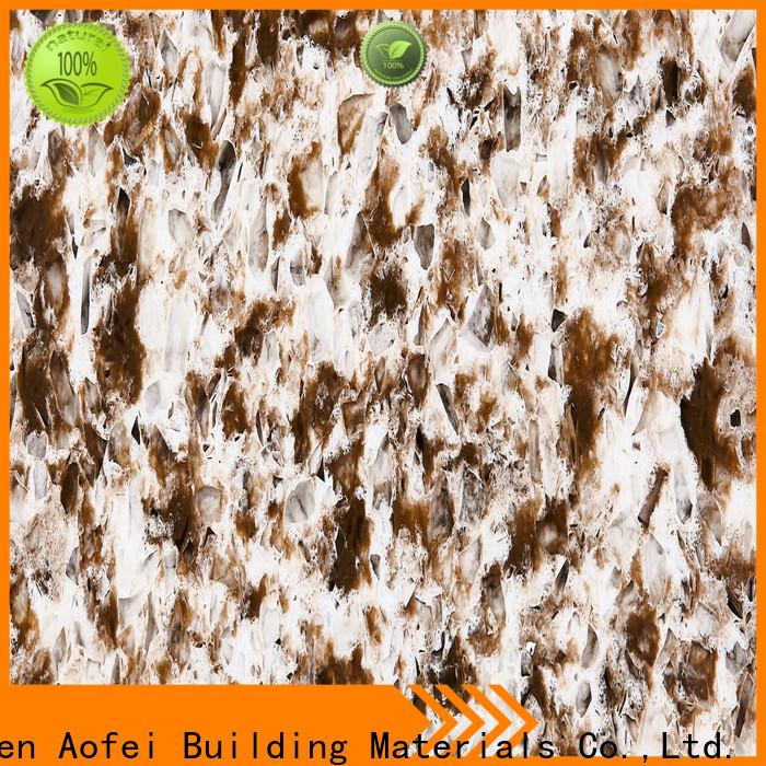 AOFEI brown quartz tiles company for flooring