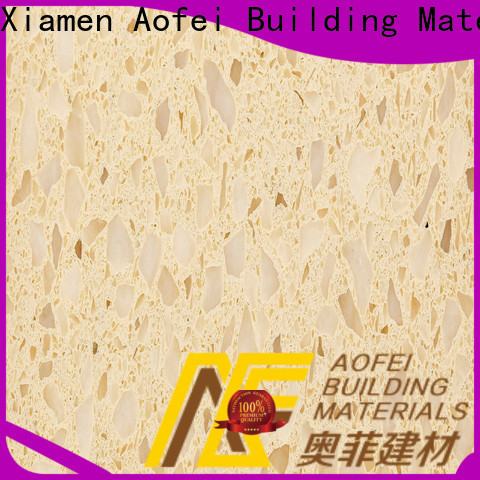 High-quality cream colored quartz supply for outdoor kitchen