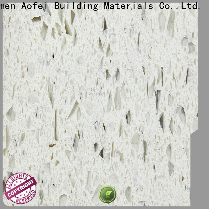 AOFEI New natural quartz colors suppliers for cabinets