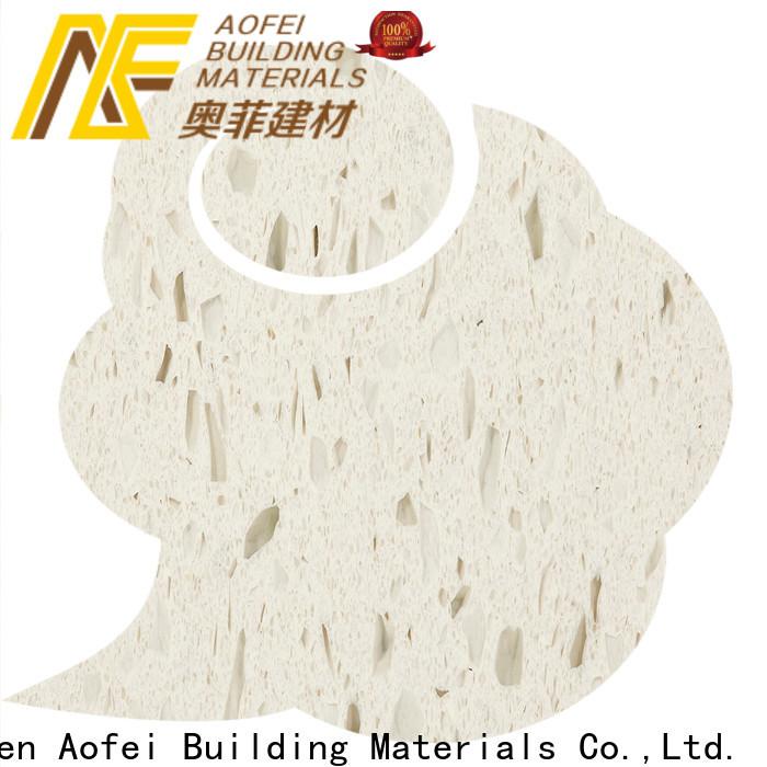 AOFEI kitchen snow white quartz stone factory for table top