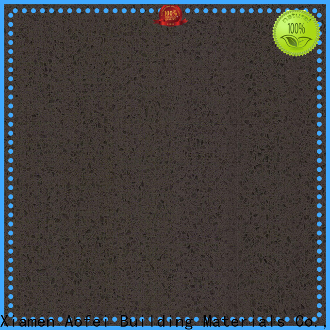 AOFEI High-quality quartz countertops black sparkle for business for kitchen