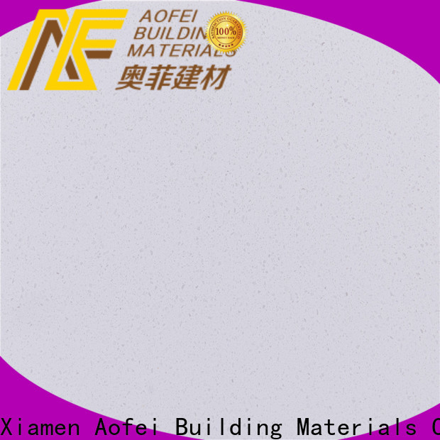 AOFEI quarz light grey quartz worktop suppliers for bathroom