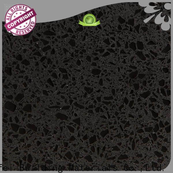 Top black quartz tiles pearl factory for outdoor kitchen