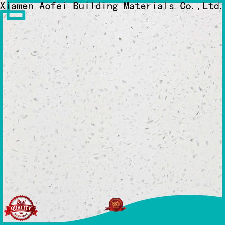 AOFEI New white quartz kitchen worktops company for flooring