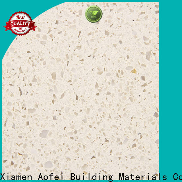 AOFEI High-quality cream stone quartz factory for kitchen