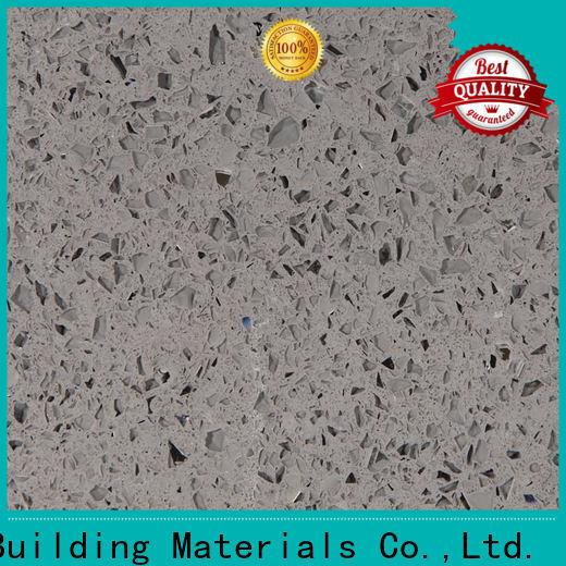 Latest gray sparkle quartz countertops wg034 supply for kitchen