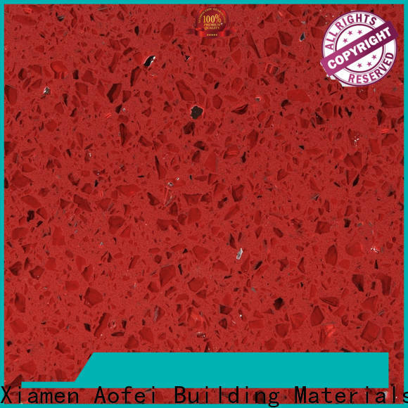 Custom red quartz stone manufacturers for table top