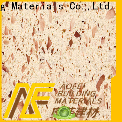 Custom pink quartz slab peach for business for cabinets