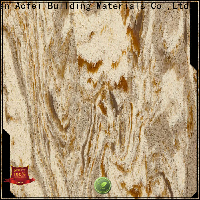 AOFEI yellow golden quartzite manufacturers for flooring