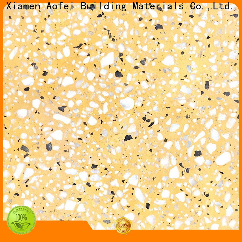 AOFEI blue terrazzo flooring contractors for business for fireplace