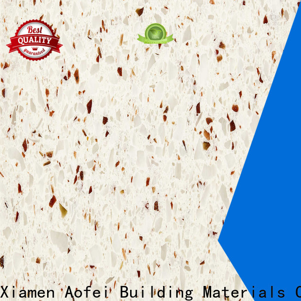 AOFEI New quartz kitchen slab factory for flooring