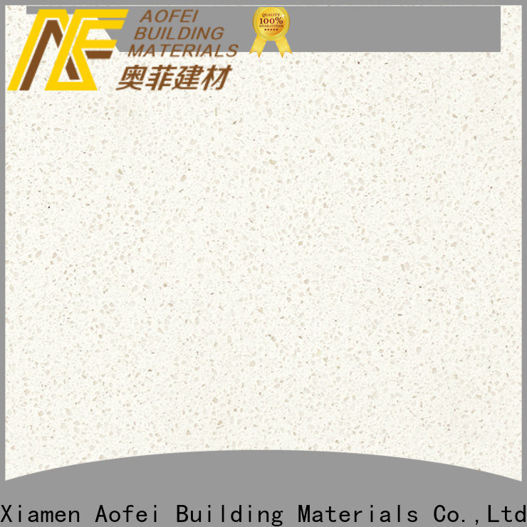 AOFEI unique pure white quartz company for outdoor kitchen