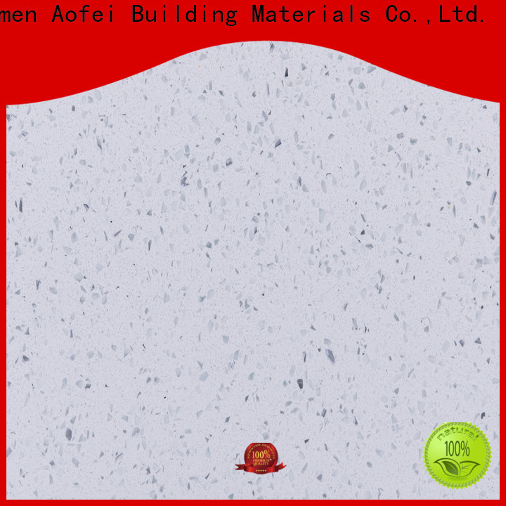 AOFEI silver pure white quartz worktop factory for outdoor kitchen