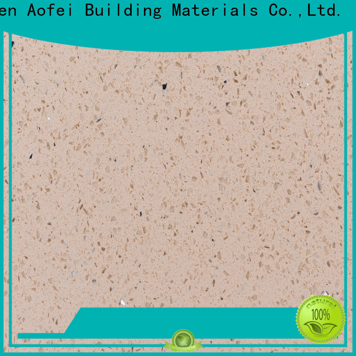 AOFEI ls1221 pure white quartz stone for business for outdoor kitchen