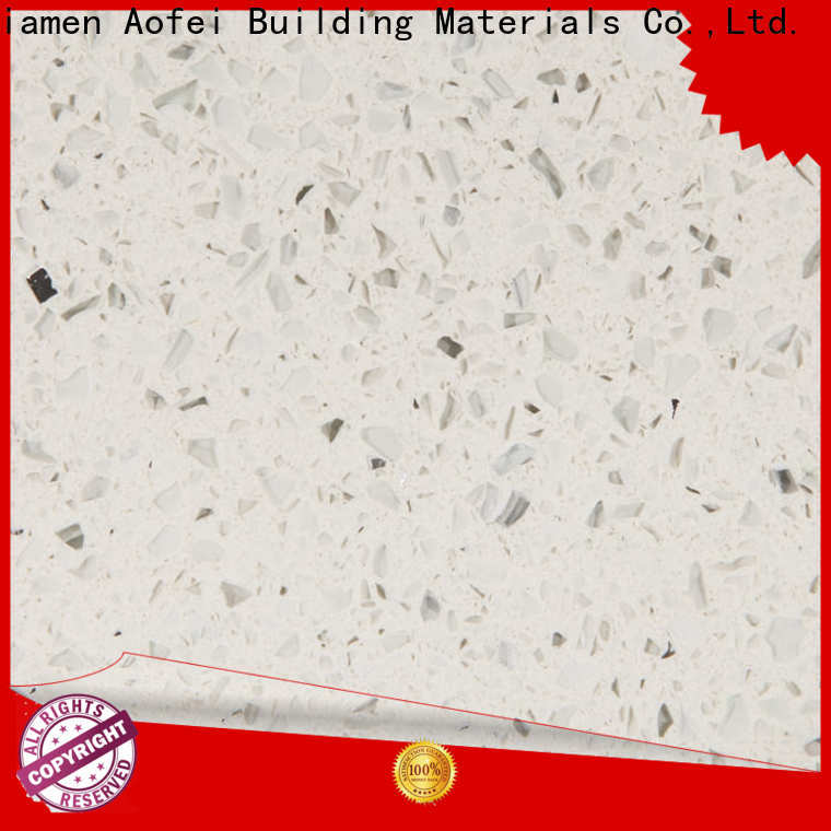AOFEI blue white quartz with mirror flecks manufacturers for cabinets