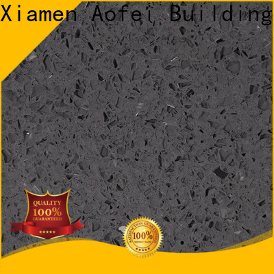 AOFEI brown sparkling black quartz factory for kitchen