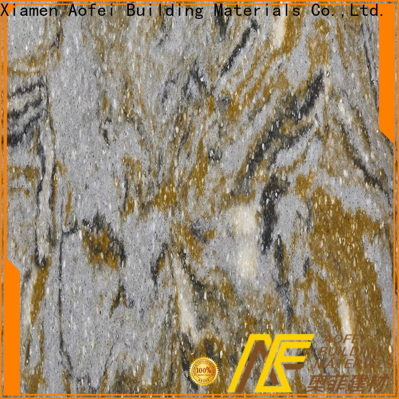 AOFEI brazilian brown quartz countertops suppliers for flooring