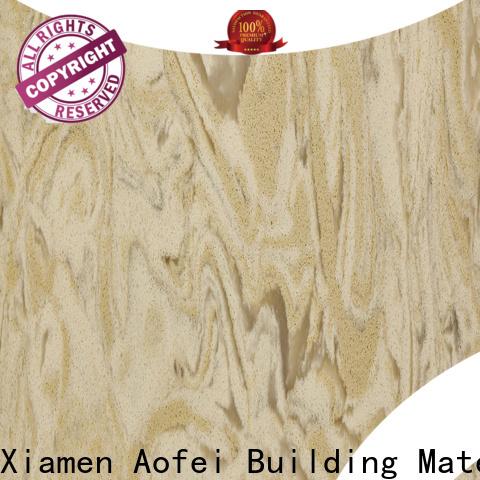 AOFEI Wholesale popular quartz countertop colors manufacturers for bathroom