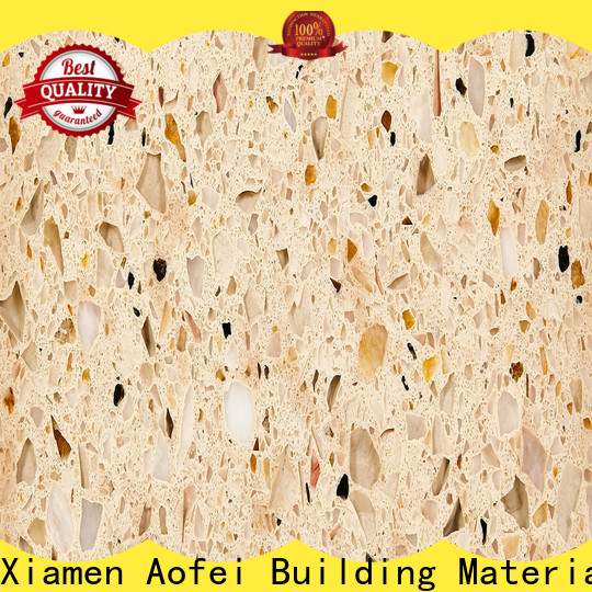 AOFEI High-quality cream quartz countertops factory for bathroom
