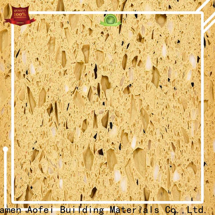 AOFEI High-quality cream quartz countertop manufacturers for bathroom