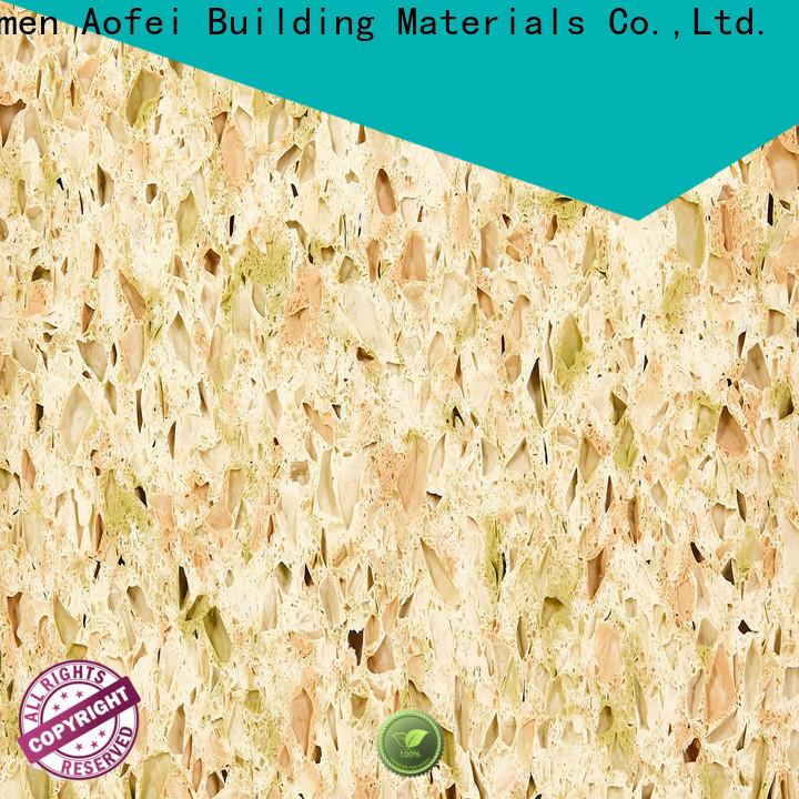 AOFEI cream sparkle quartz worktops factory for kitchen