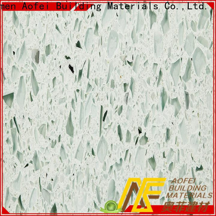 AOFEI High-quality gentle grey quartz factory for bathroom