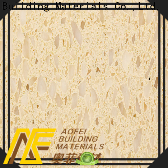 AOFEI Top cream quartz tiles supply for bathroom