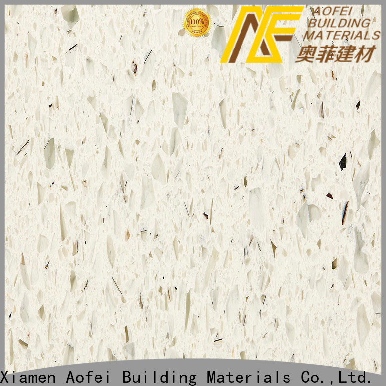 AOFEI fantasy star white quartz supply for flooring