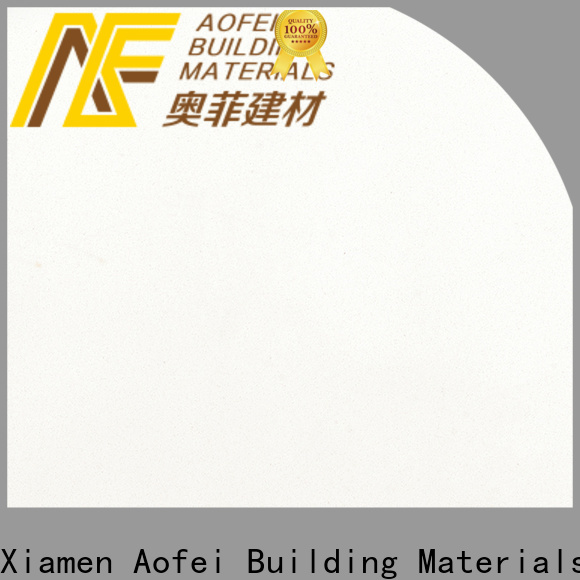 AOFEI Custom quartz stone white company for kitchen