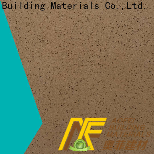 AOFEI brown quartz factory for table top