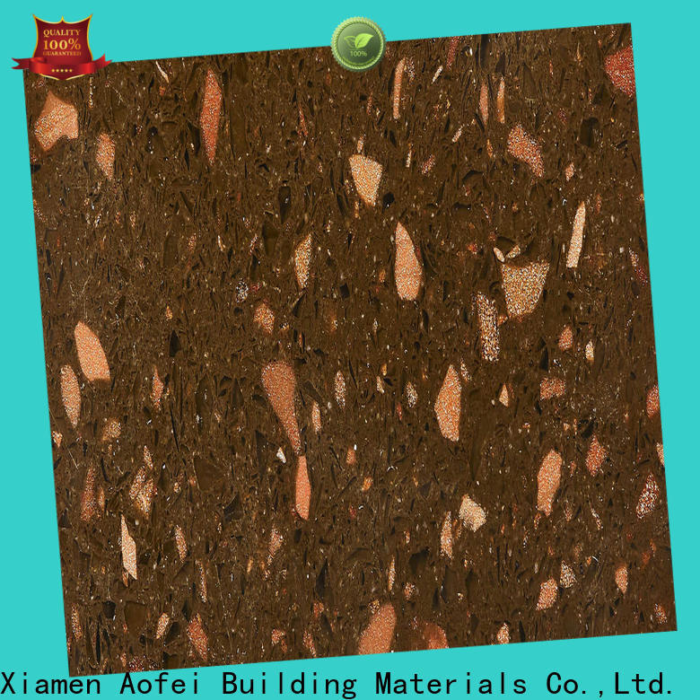 AOFEI Wholesale brown quartz worktops suppliers for garden