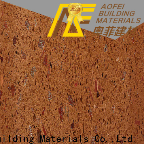 AOFEI dark brown quartz for business for flooring