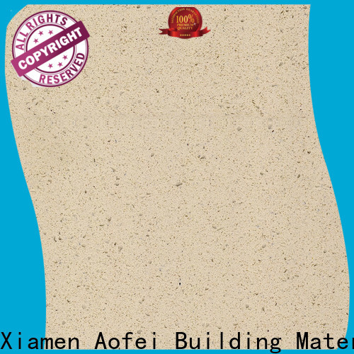AOFEI cream quartz countertops for business for cabinets