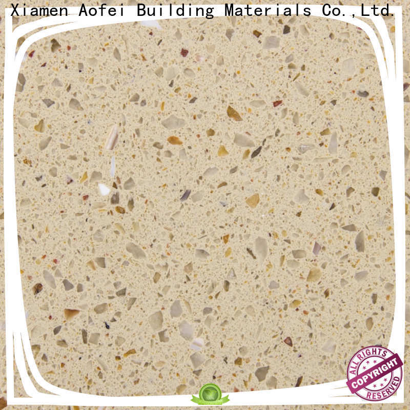 AOFEI New cream quartz company for bathroom