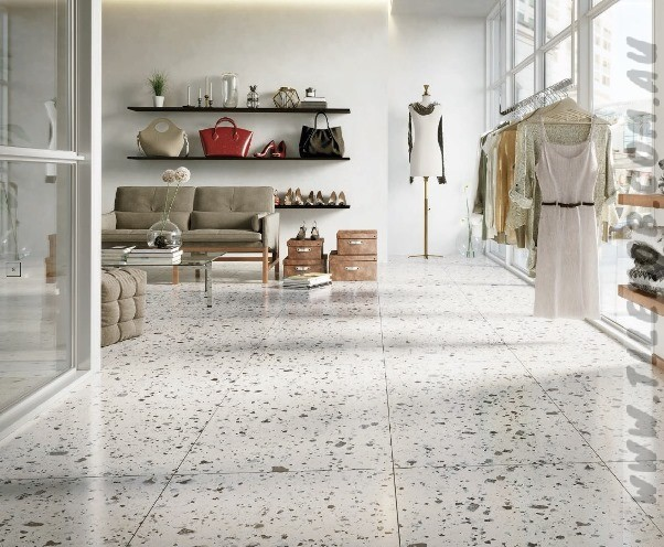 Wholesale marble vs terrazzo floor supply for fireplace-2
