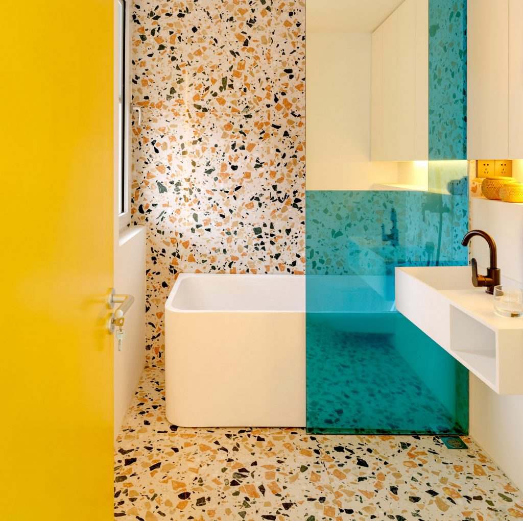 AOFEI blue terrazzo flooring contractors for business for fireplace-1