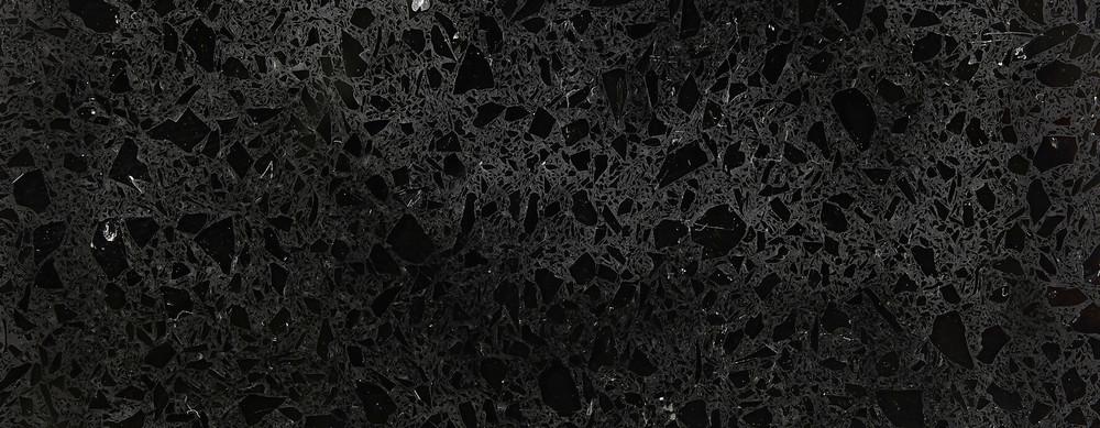 Natural Quartz Countertops Shower Tray Black Crystal
