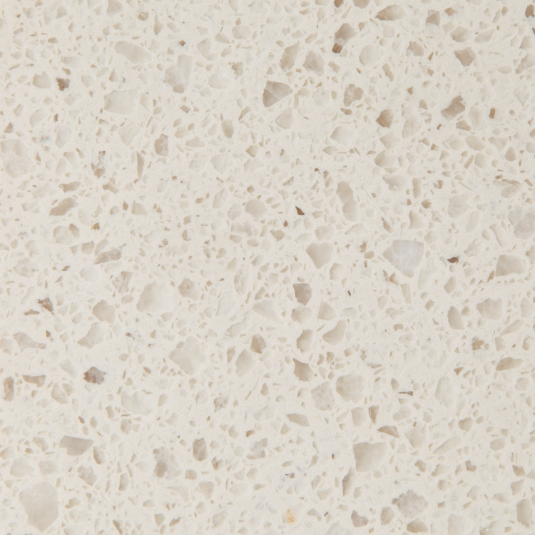 Pure White Quartz Slab Cream Nougat Color XPC1006
