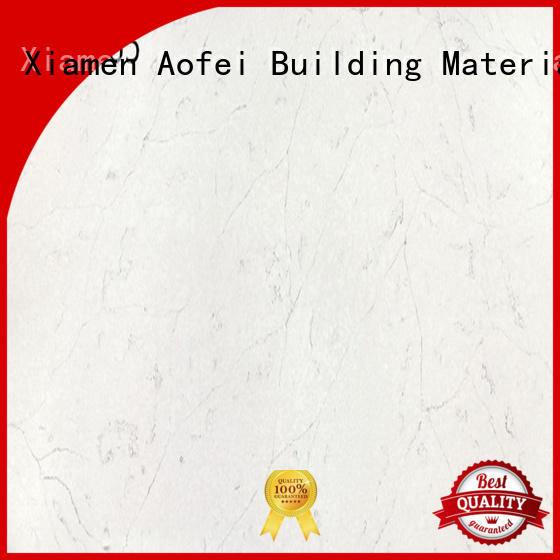 AOFEI price white quartz with brown veins manufacturers for flooring